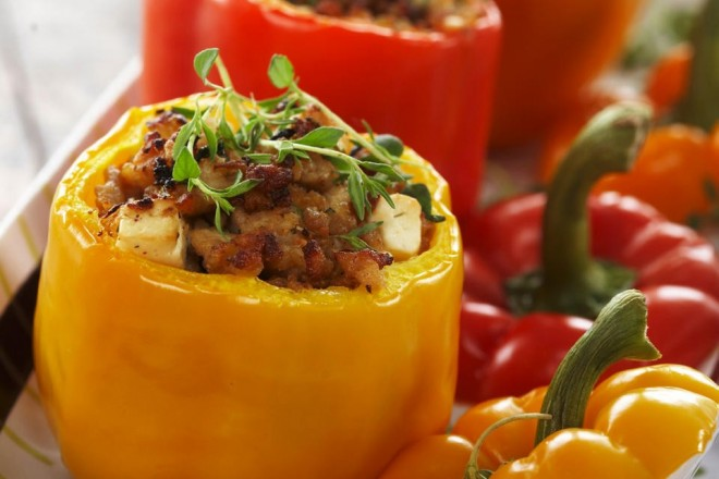 Fylt paprika med kjøttdeig Oppskrift