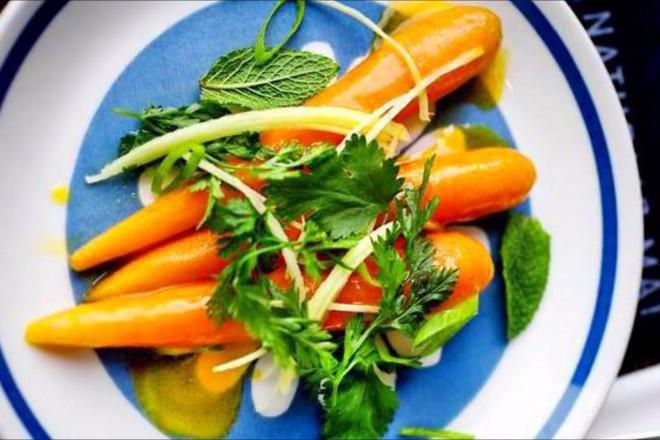 Glaserte gulrøtter med frisk ingefær Oppskrift