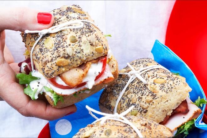 Sandwich med bacon Oppskrift