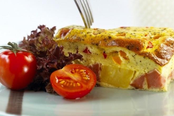 Omelett i ovnen Oppskrift