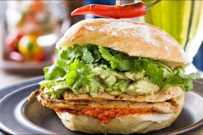 Kyllingburger med sting Oppskrift