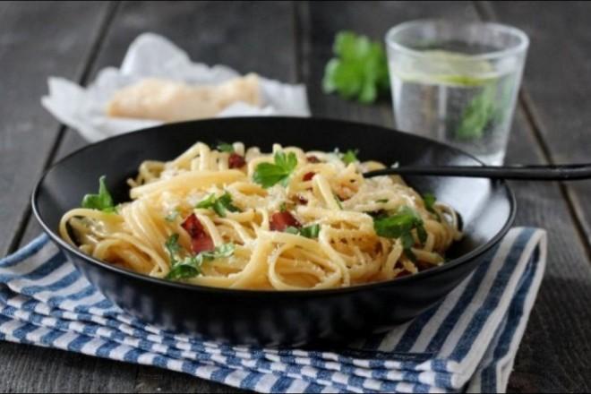Spaghetti carbonara med Trine Sandberg Oppskrift