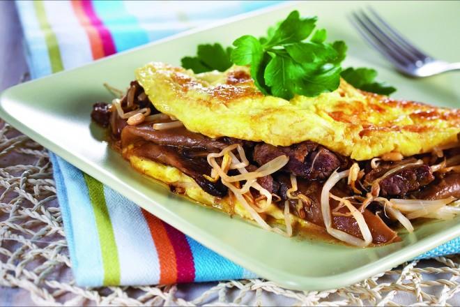 Asiatisk omelett Oppskrift