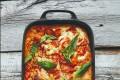 Tinas lasagne «pronto» med tomat, salami og basilium Oppskrift