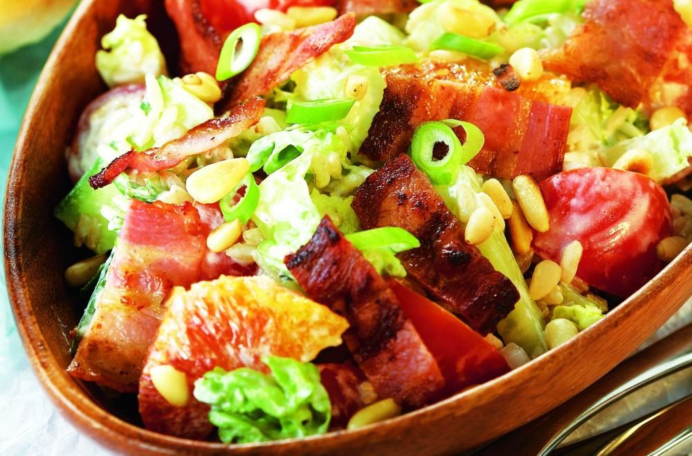 Rissalat med bacon Oppskrift