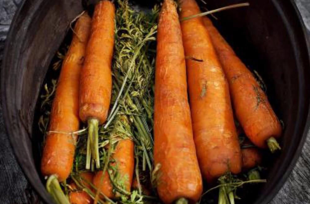 Grytebakte gulrøtter  Oppskrift