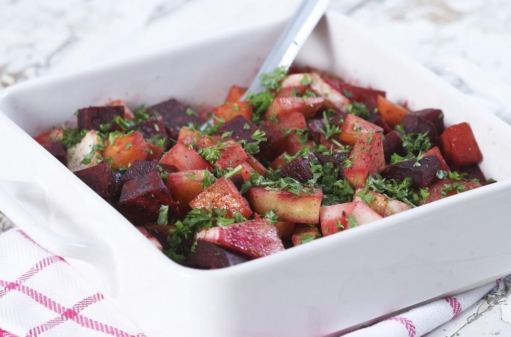 Kanelstekte rotgrønnsaker Oppskrift