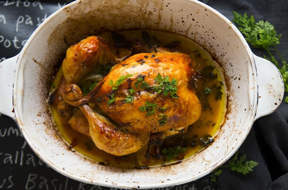 Helstekt kylling Oppskrift