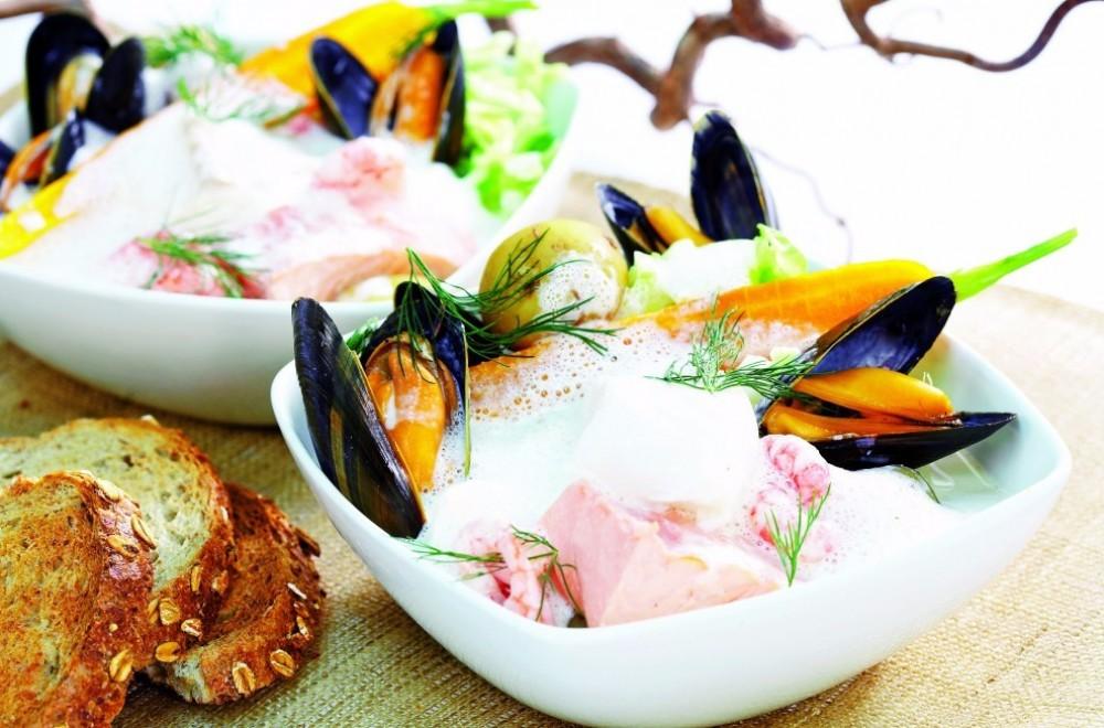 Fiskegryte med friske grønnsaker Oppskrift