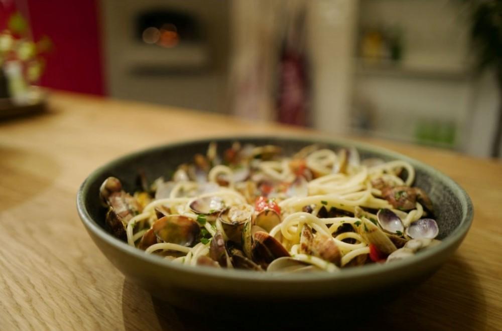 Spaghetti vongole fra Helles Kitchen Oppskrift