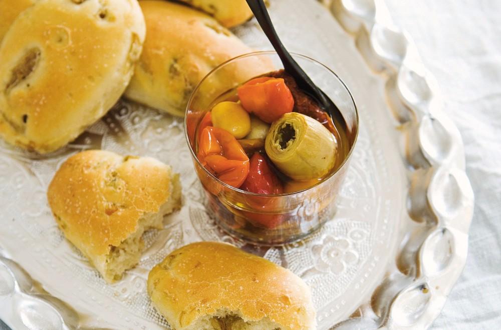 Kaldhevet sitronbrød med artisjokker Oppskrift