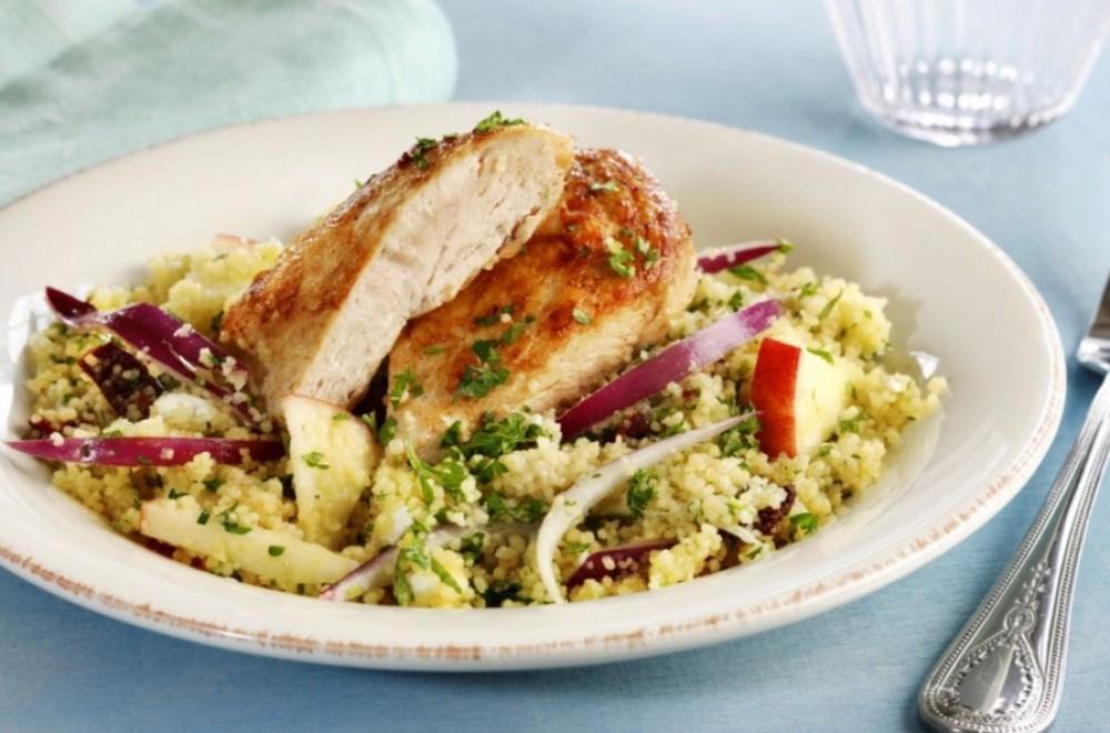 Kyllingsalat med couscous og rucola Oppskrift